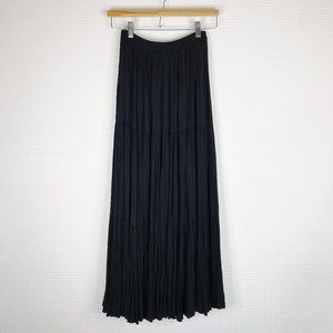 Double D Ranch Tiered Black Long Maxi Skirt XS